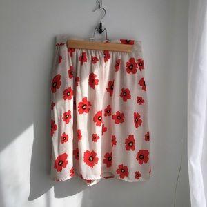 ModCloth poppies skirt
